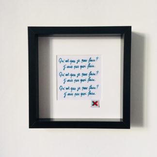L'ennui, Kit de Broderie, affiche-textile Reaytobemade par noodlegraphique.