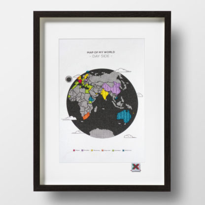 Map of my world, Kit de Broderie, affiche
