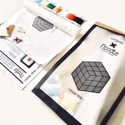 Casse-tete, Kit de Broderie, affiche-textile Reaytobemade par noodlegraphique.