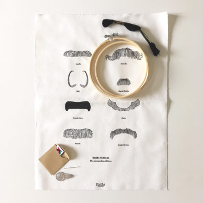 Barba Nobilis, Kit de Broderie, affiche-textile Reaytobemade par noodlegraphique.